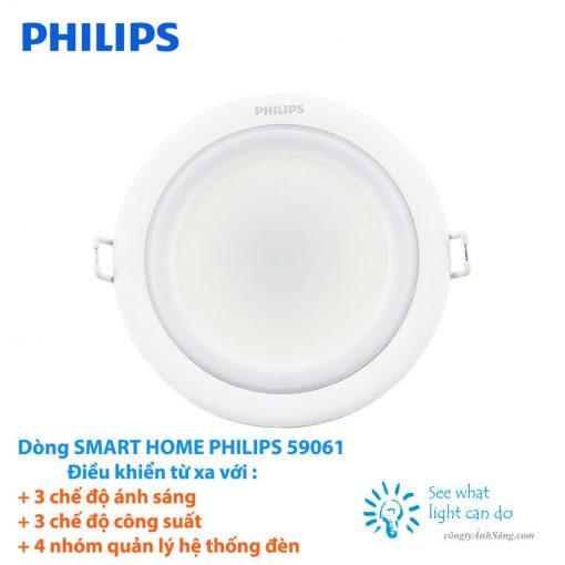 Den am tran SMART HOME PHILIPS 59061 www.congtyanhsang.com