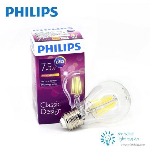 Bong LED Classic PHILIPS Filament 7.5W E27