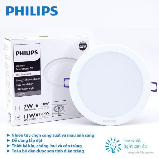 den am tran PHILIPS DN027C 7W 11W 15W 18W 20W www.congtyanhsang.com