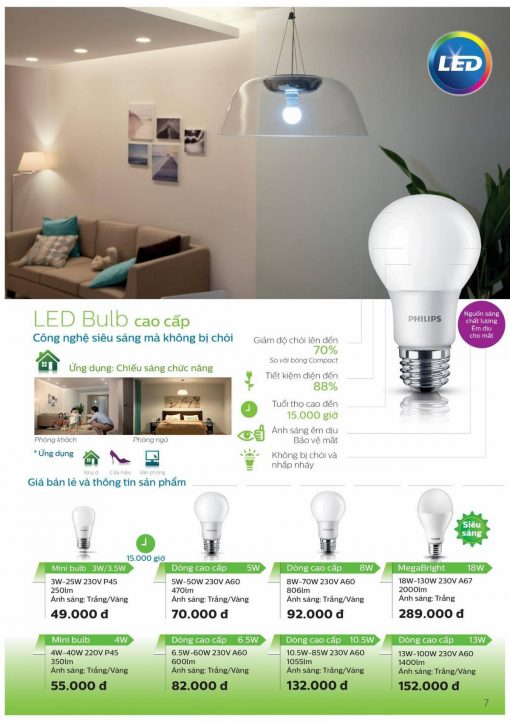Bong LED bulb PHILIPS 6.5W E27