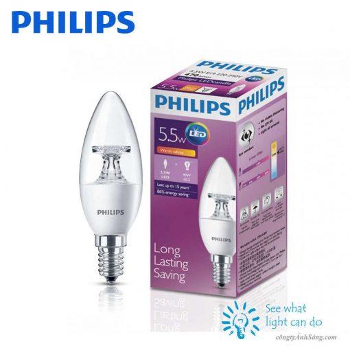 Bong LED nen PHILIPS 5.5W E14 www.congtyanhsang.com
